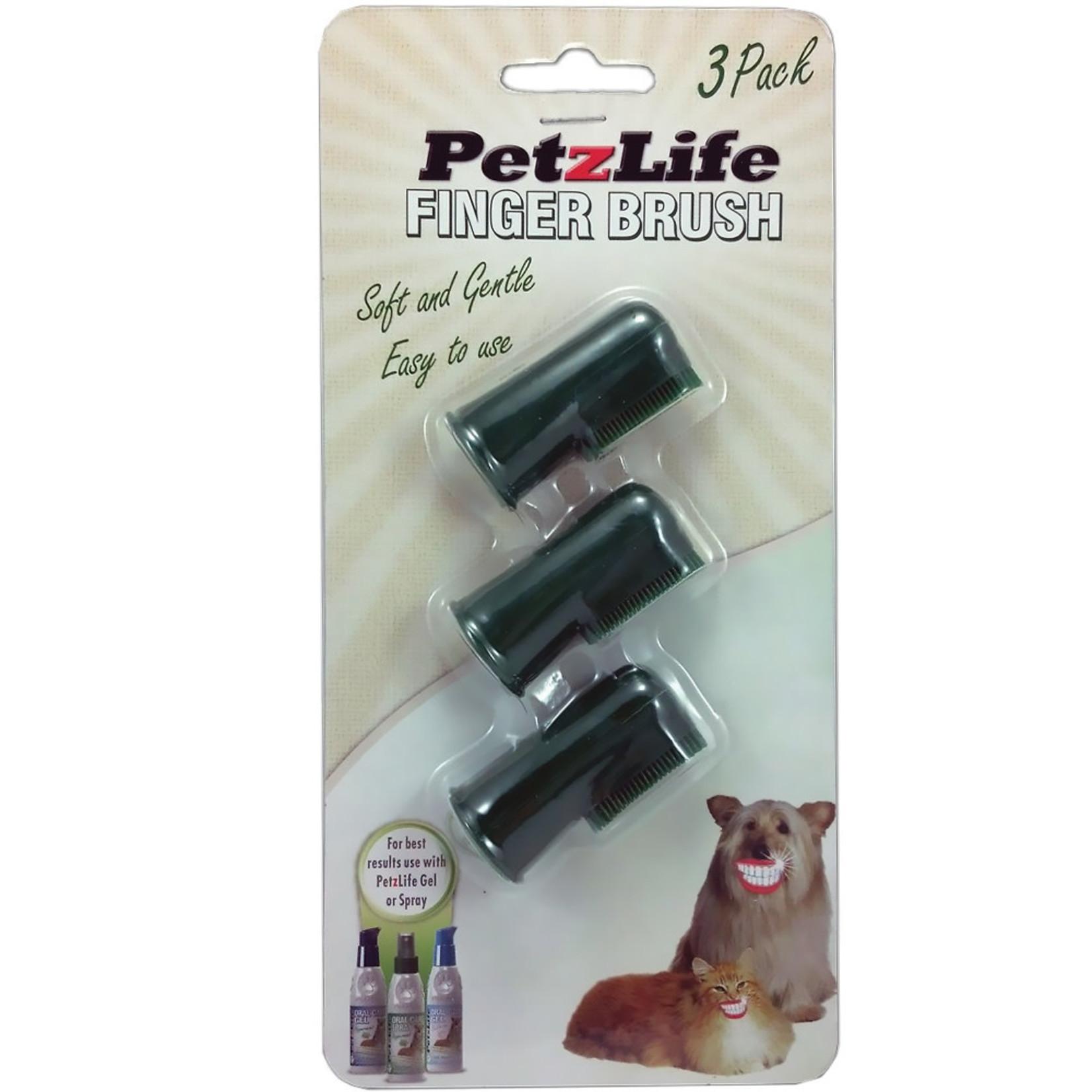 Petzlife PETZLIFE Finger Toothbrush 3pk