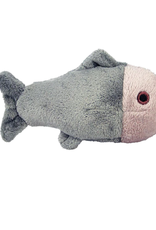 "Fluff & Tuff Fluff & Tuff Guppy Fish Squeakerless Dog Plush Toy 4"""