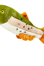 """Fluff & Tuff Fluff & Tuff Ruby Rainbow Trout Dog Plush Toy 14"""""""