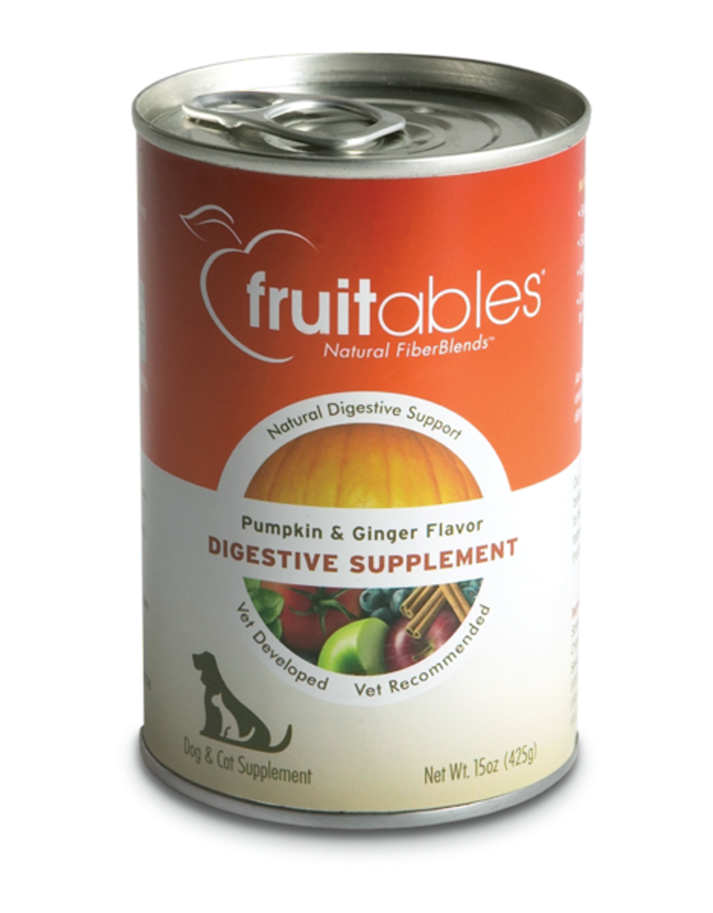 Fruitables Fruitables Pumpkin and Ginger Digestive Supplement Dog and Cat 15oz