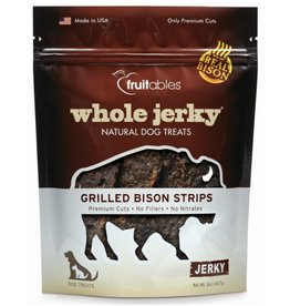Fruitables Fruitable Whole Jerky Grilled Bison Strips Dog Treats 5oz