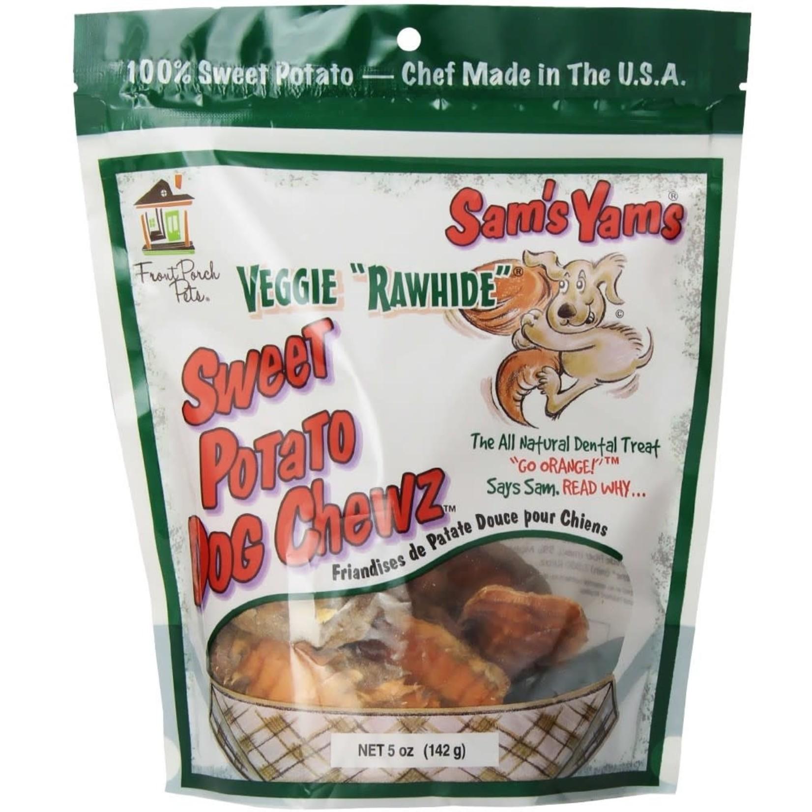 Front Porch Pets Sam's Yams Veggie Rawhide Sweet Potato Dog Chews 5oz