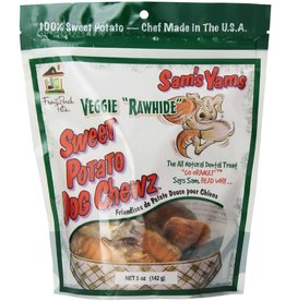 Front Porch Pets Sam's Yams Veggie Rawhide Sweet Potato Dog Chews 5oz