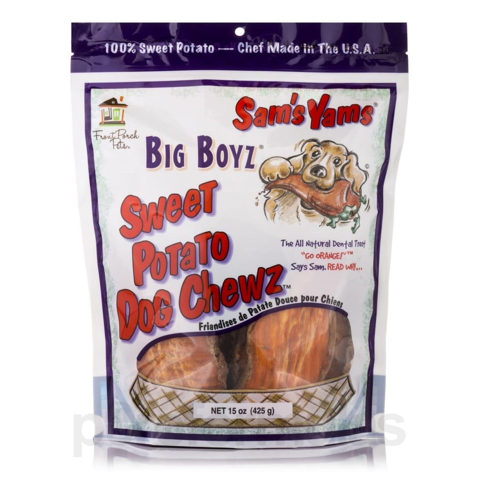 Front Porch Pets Sam's Yams Big Boyz Sweet Potato Dog Chews 15oz