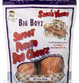 Front Porch Pets Sam's Yams Big Boyz Sweet Potato Dog Chews 15oz
