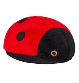 Fluff & Tuff Fluff & Tuff Lady Bug Dog Plush Toy 4.5""