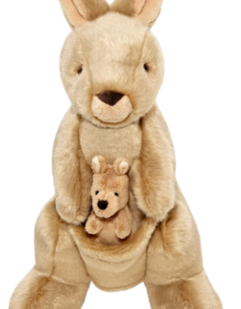 "Fluff & Tuff Fluff & Tuff Phoebe & Joey Kangaroo Dog Plush Toy 13"""