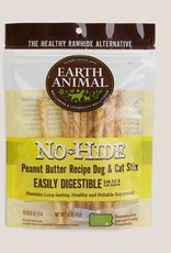 Earth Animal Earth Animal No-Hide Peanut Butter Stix Chews 10pk