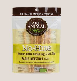 Earth Animal Earth Animal No-Hide Peanut Butter Stix Chews 10pk