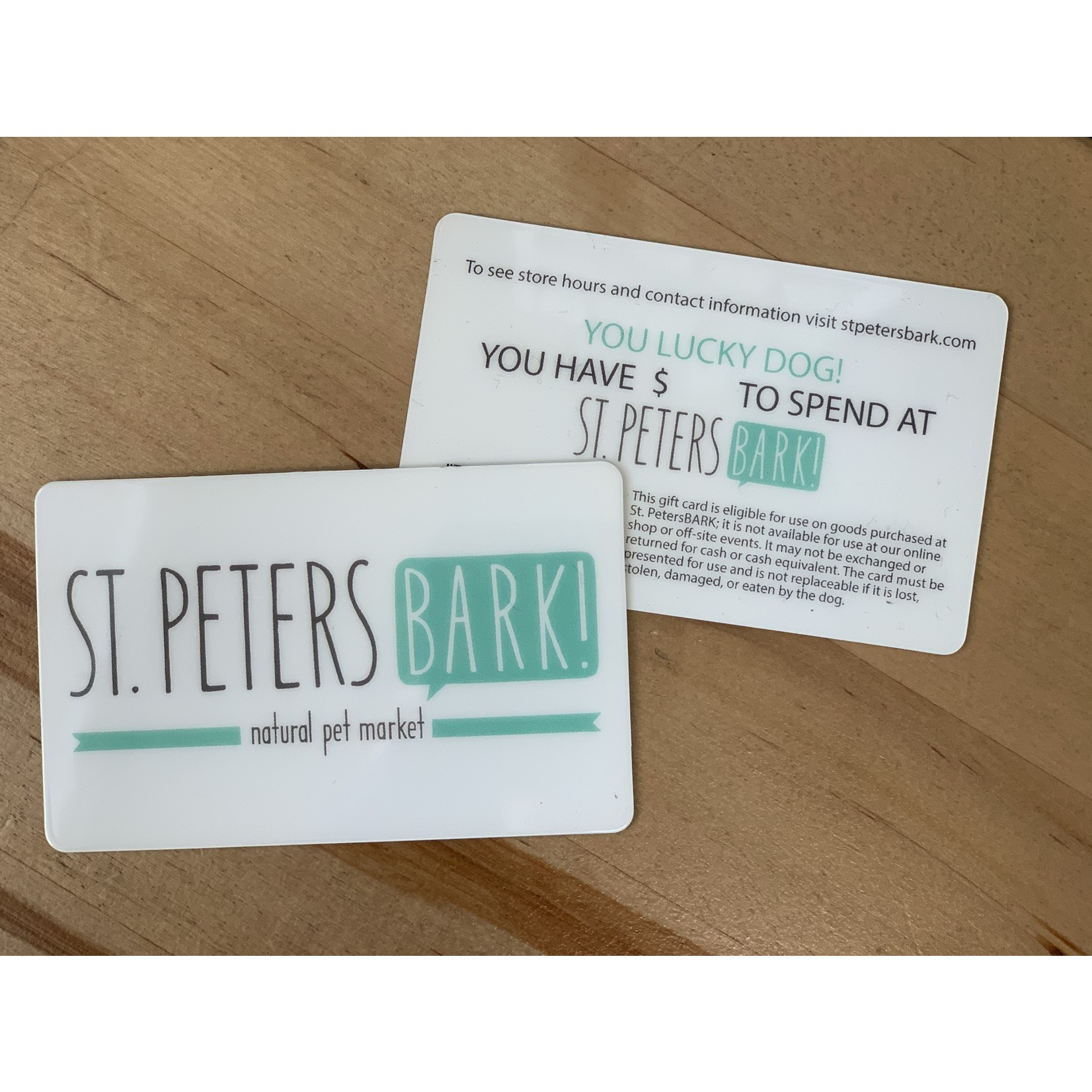 St PetersBARK! Gift Card
