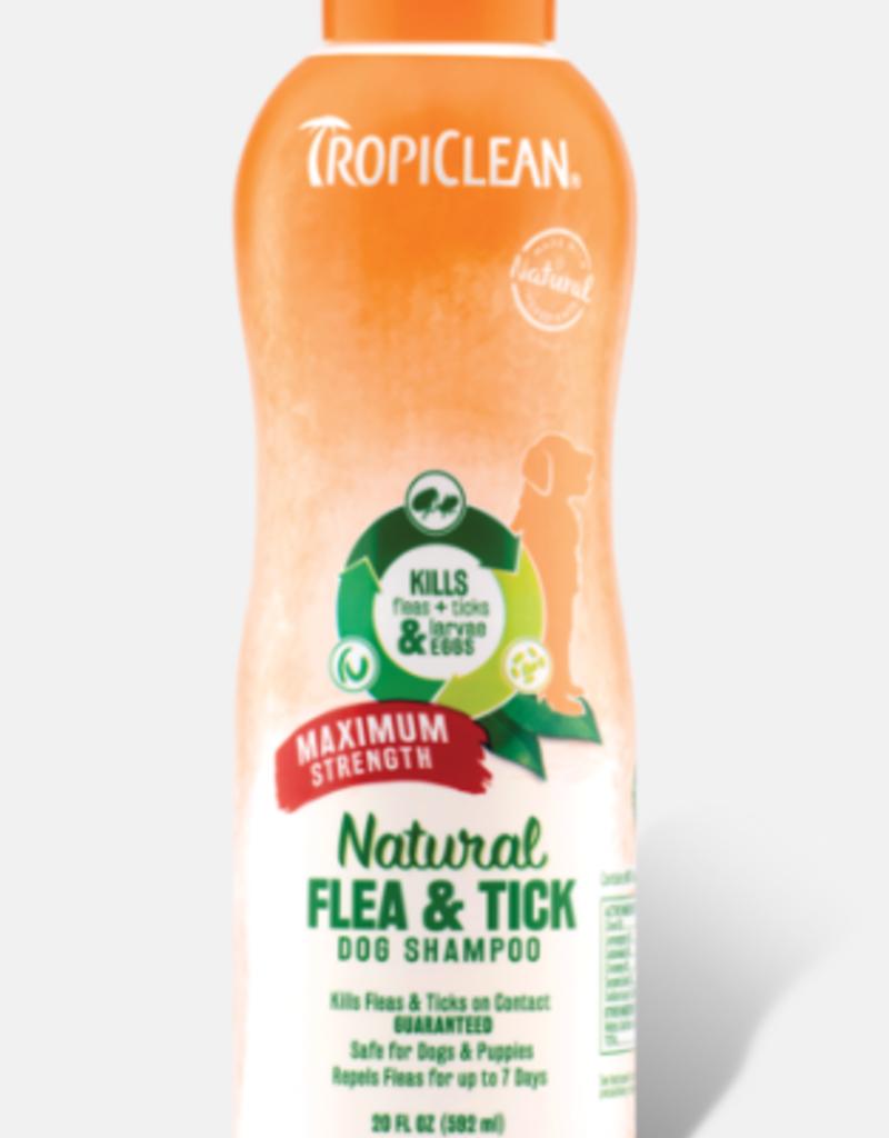 Tropiclean TropiClean Natural Flea & Tick Dog Shampoo Max 20oz