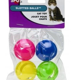 Ethical Products ETHICAL Slotted Ball Cat Toy 4pk