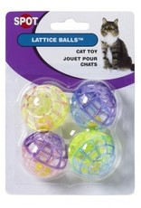 Ethical Products ETHICAL Lattice Ball Cat Toy 4pk