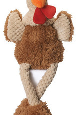 Worldwise/QPG/GoDog GoDog Skinny Brown Rooster Dog Toy Small