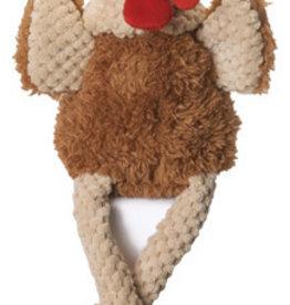 Worldwise/QPG/GoDog GODOG Skinny Brown Rooster Toy Dog Sm