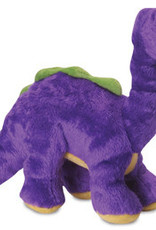 Worldwise/QPG/GoDog GoDog Just For Me Dino Bruto Dog Toy Purple