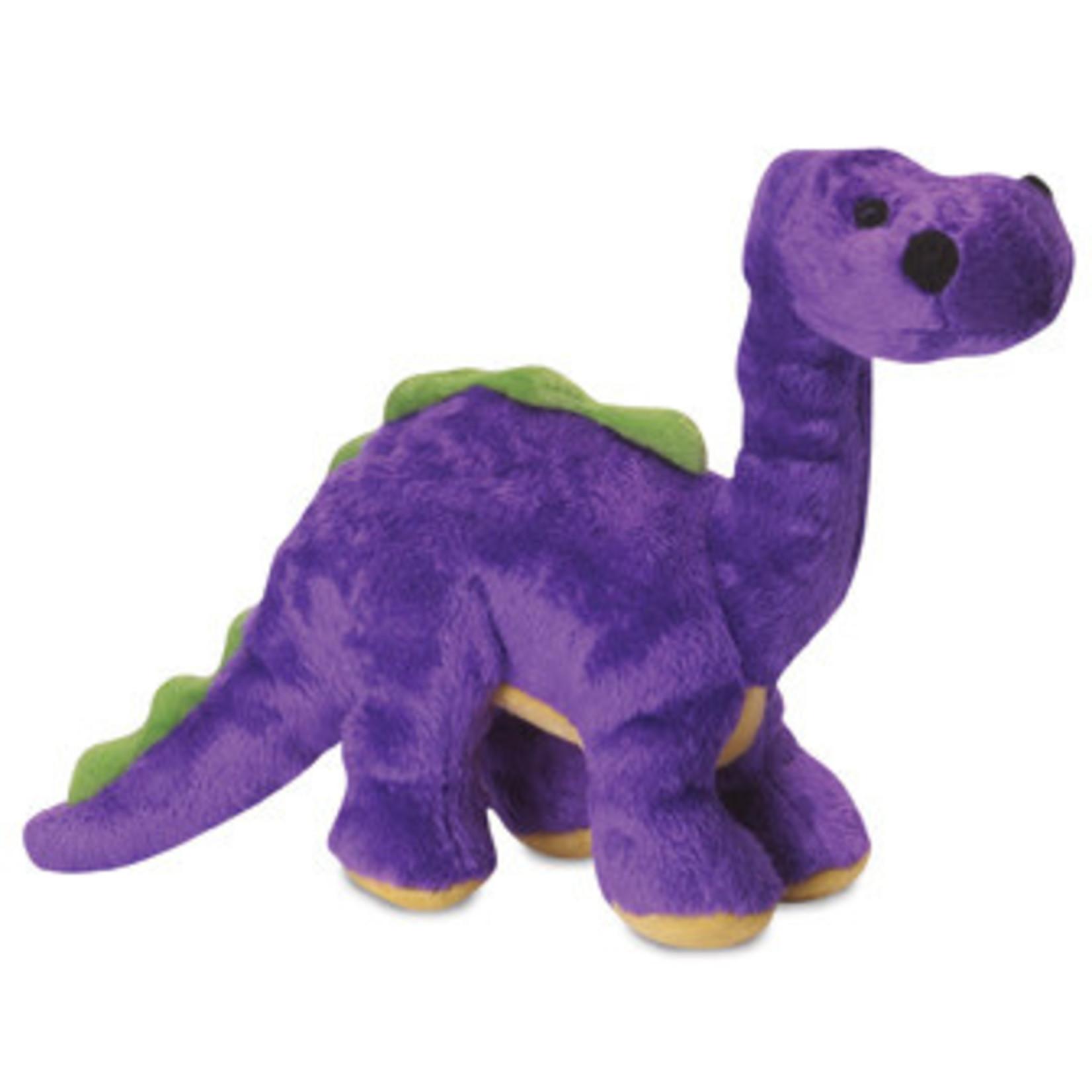 Worldwise/QPG/GoDog GoDog Just For Me Dino Bruto Dog Toy Purple