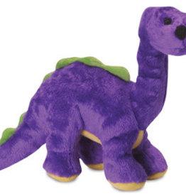 Worldwise/QPG/GoDog GODOG Just For Me Dino Bruto Purple Toy Dog