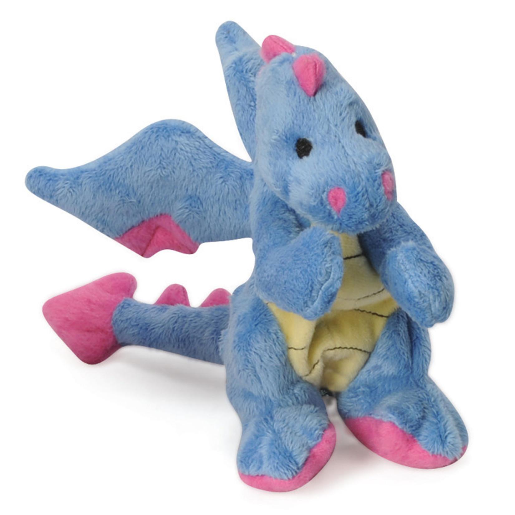 Worldwise/QPG/GoDog GoDog Periwinkle Dragon Dog Toy Small
