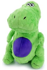 Worldwise/QPG/GoDog GoDog Just For Me Green T-Rex Dog Toy Small