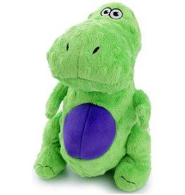 Worldwise/QPG/GoDog GODOG Just For Me T-Rex Green Toy Dog Sm