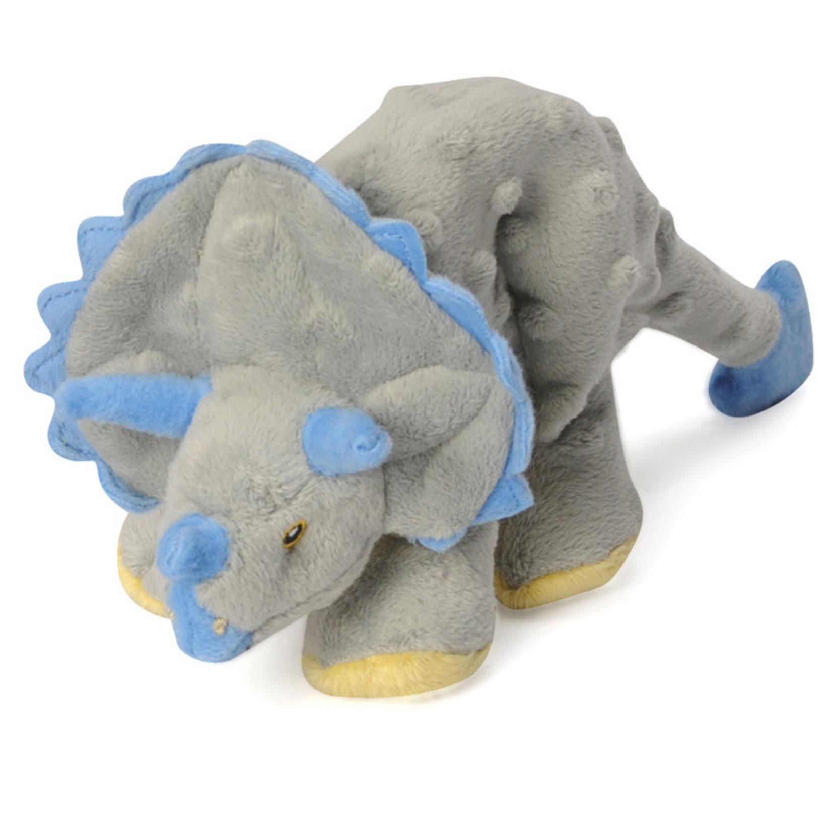 Worldwise/QPG/GoDog GoDog Grey Triceratops Dog Toy Small