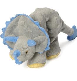 Worldwise/QPG/GoDog GODOG Dino Triceratops Grey Toy Dog Sm