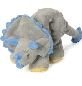 Worldwise/QPG/GoDog GoDog Grey Triceratops Dog Toy Small
