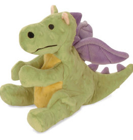 Worldwise/QPG/GoDog GODOG Dragon Lime Toy Dog Lrg