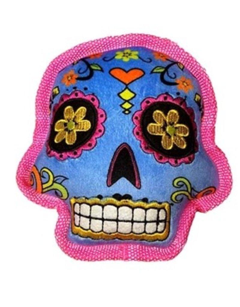 Worldwise/QPG/GoDog GODOG Sugar Skull Blue Toy Dog Lrg