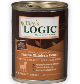 Nature's Logic NL Canine Chicken Feast Can Dog 13.2oz