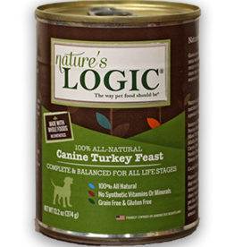 Nature's Logic NL Canine Turkey Feast Can Dog 13.2oz
