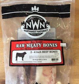 """Northwest Naturals NWN Frozen Raw Bones Beef 4"""" 2pk"""