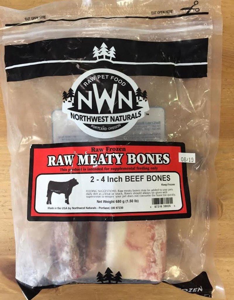 """Northwest Naturals Northwest Naturals Frozen Raw Bones Beef 4"""" 2pk"""