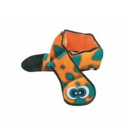 Outward Hound Outward Hound Invincibles 3-Squeak Snake Blue-Orange Dog Toy