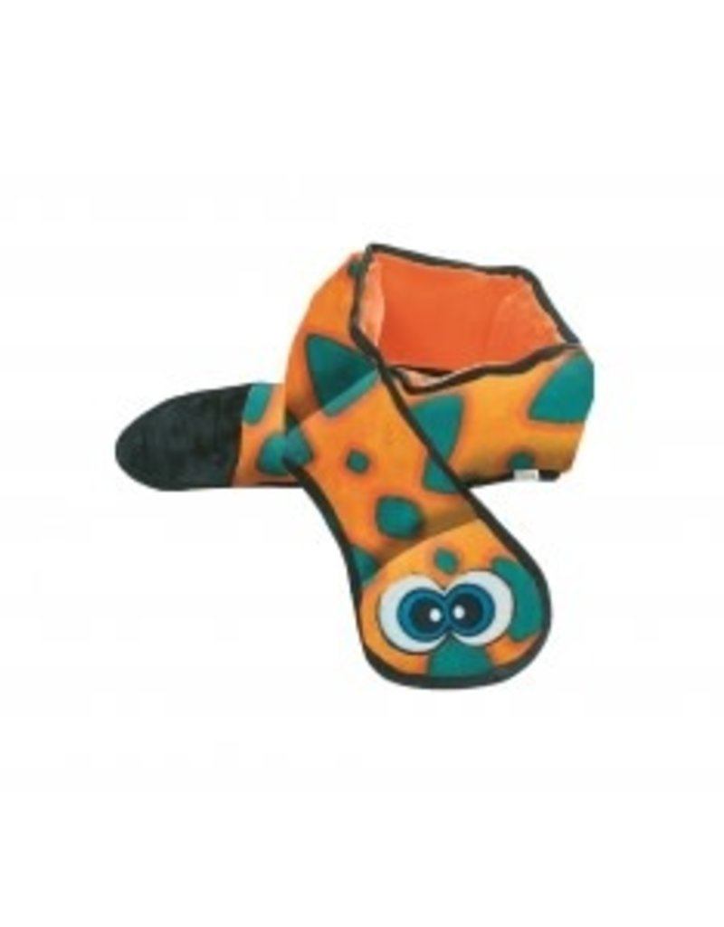 Outward Hound Outward Hound Invincibles 3-Squeak Snake Blue-Orange Dog Toy
