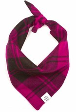 FOGGYDOG Bandana Fuchsia Plaid  - Final Sale - No returns/exchanges
