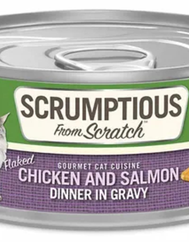 Scrumptious SCRUMPTIOUS Shredded Chicken & Salmon Cat Can 2.8oz