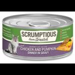 Scrumptious SCRUMPTIOUS Shredded Chicken & Pumpkin Cat Can 2.8oz