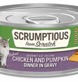 Scrumptious SCRUMPTIOUS Shredded Chicken & Pumpkin Cat Can 2.8oz