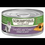 Scrumptious SCRUMPTIOUS Chicken & Turkey Cat Can 2.8oz