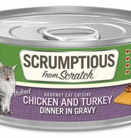 Scrumptious SCRUMPTIOUS Chicken & Turkey Cat Can 2.8oz
