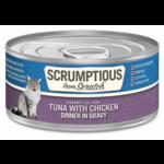 Scrumptious SCRUMPTIOUS Tuna & Chicken Cat Can 2.8oz