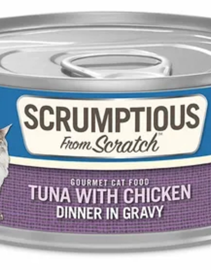 Scrumptious SCRUMPTIOUS Tuna & Chicken Cat Can 2.8oz