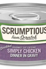 Scrumptious SCRUMPTIOUS Shredded Chicken Cat Can 2.8oz