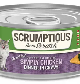 Scrumptious SCRUMPTIOUS Shredded Chicken Cat Can 2.8oz
