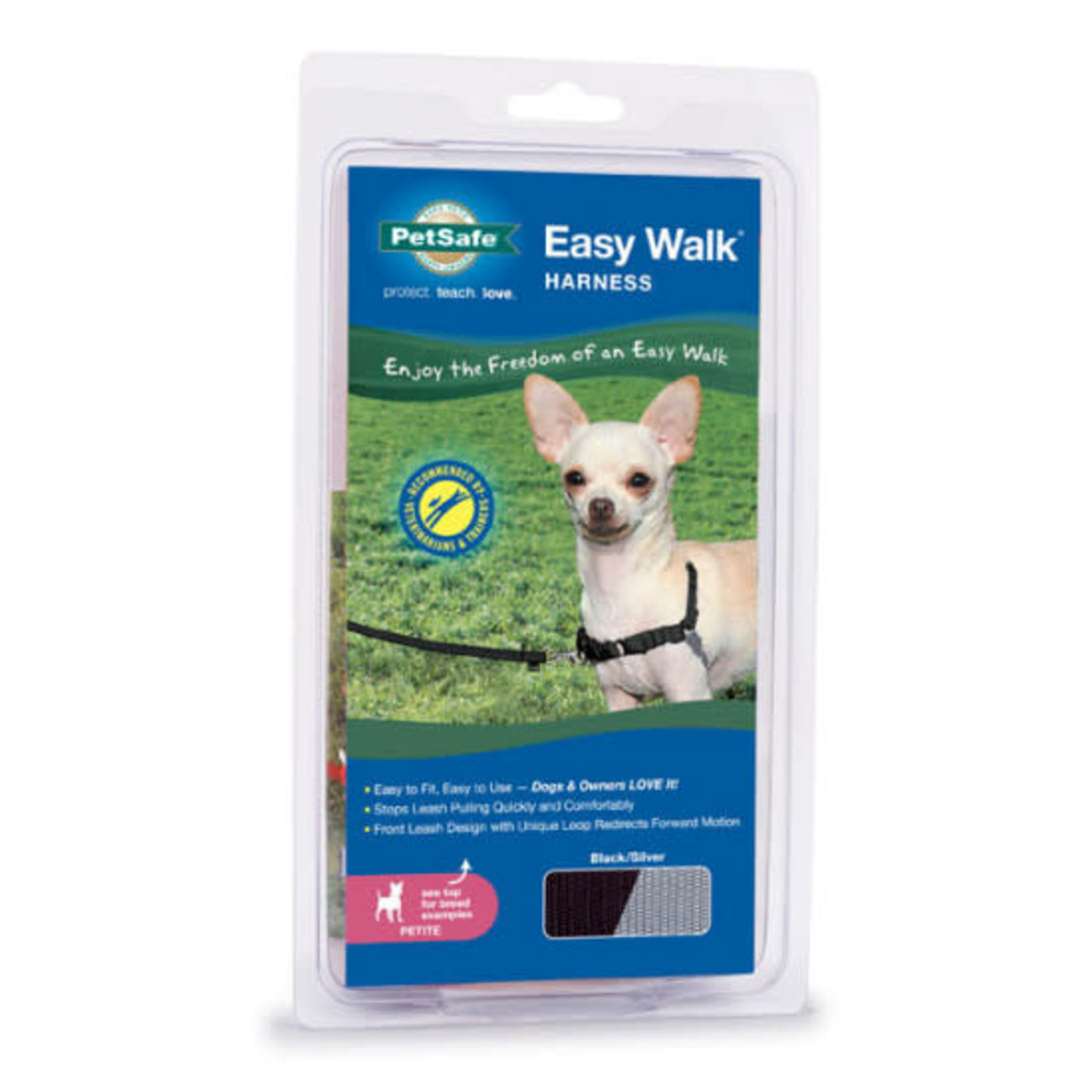 Petsafe PETSAFE Harness Easy Walk Petite Black & Silver