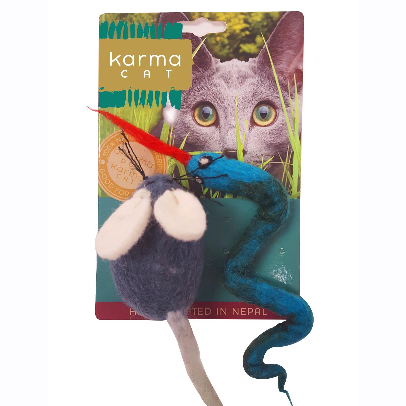 Dharma Dog Dharma Dog Mouse & Snake Cat Toy 2pk