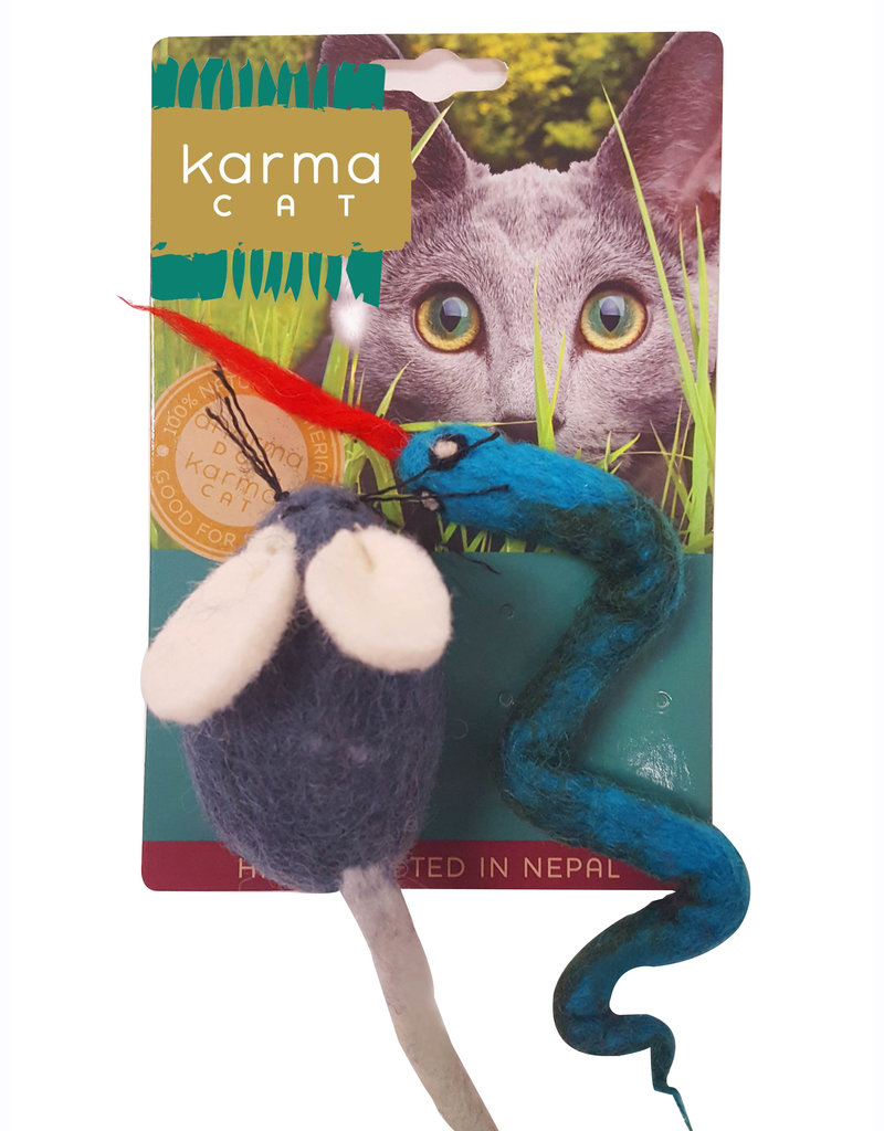 Dharma Dog DHARMA DOG Mouse & Snake Cat Toy 2pk