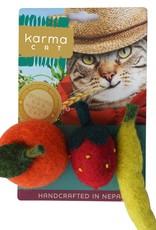 Dharma Dog DHARMA DOG Fruit Cat Toy 3pk